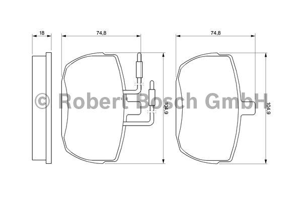 Kit de plaquettes de frein, frein à disque - BOSCH - 0 986 467 590