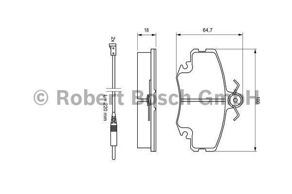 Kit de plaquettes de frein, frein à disque - BOSCH - 0 986 467 720