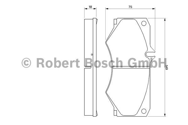 Kit de plaquettes de frein, frein à disque - BOSCH - 0 986 467 841