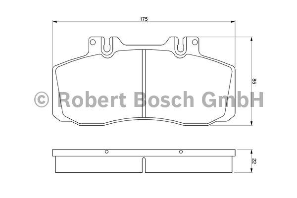 Kit de plaquettes de frein, frein à disque - BOSCH - 0 986 468 350