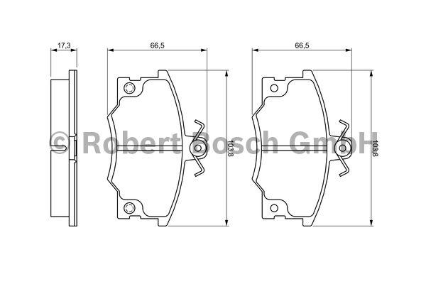 Kit de plaquettes de frein, frein à disque - BOSCH - 0 986 468 380