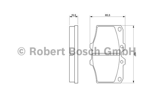 Kit de plaquettes de frein, frein à disque - BOSCH - 0 986 468 520