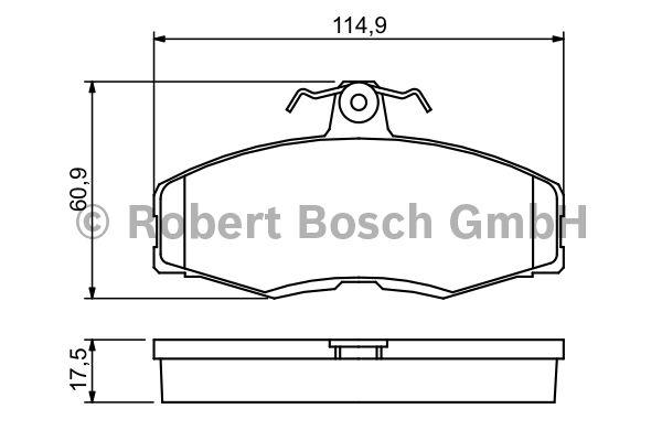 Kit de plaquettes de frein, frein à disque - BOSCH - 0 986 468 613