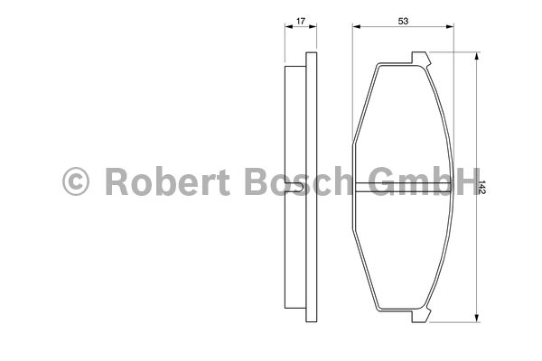 Kit de plaquettes de frein, frein à disque - BOSCH - 0 986 468 630