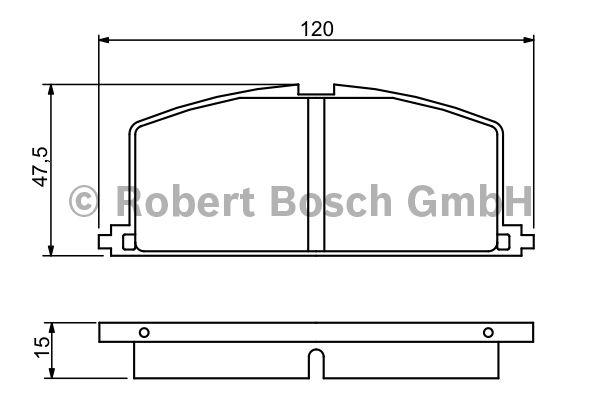Kit de plaquettes de frein, frein à disque - BOSCH - 0 986 468 701