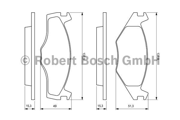 Kit de plaquettes de frein, frein à disque - BOSCH - 0 986 468 871