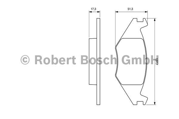 Kit de plaquettes de frein, frein à disque - BOSCH - 0 986 468 890