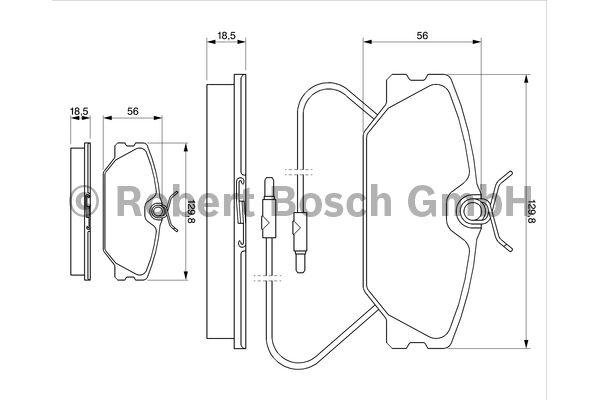 Kit de plaquettes de frein, frein à disque - BOSCH - 0 986 469 191