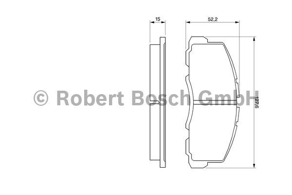 Kit de plaquettes de frein, frein à disque - BOSCH - 0 986 469 550