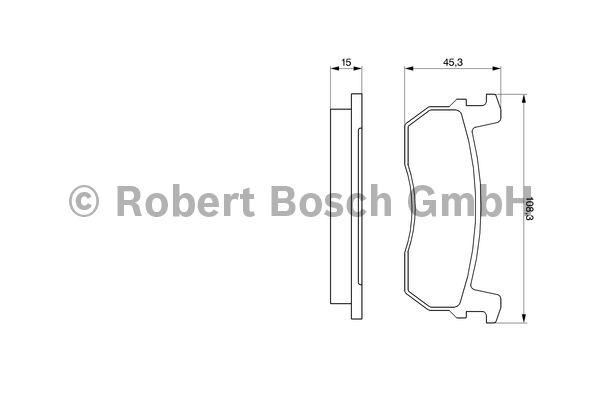 Kit de plaquettes de frein, frein à disque - BOSCH - 0 986 469 570