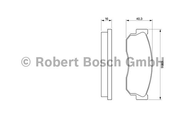 Kit de plaquettes de frein, frein à disque - BOSCH - 0 986 469 580