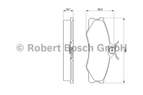 Kit de plaquettes de frein, frein à disque - BOSCH - 0 986 469 790