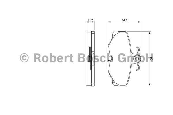 Kit de plaquettes de frein, frein à disque - BOSCH - 0 986 469 810