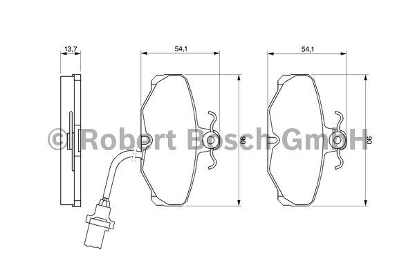 Kit de plaquettes de frein, frein à disque - BOSCH - 0 986 469 820