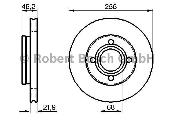 Disque de frein - BOSCH - 0 986 478 018