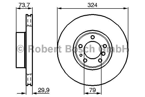 Disque de frein - BOSCH - 0 986 478 024