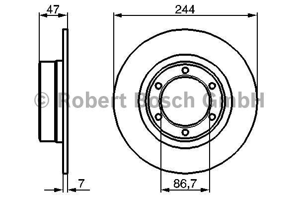 Disque de frein - BOSCH - 0 986 478 050