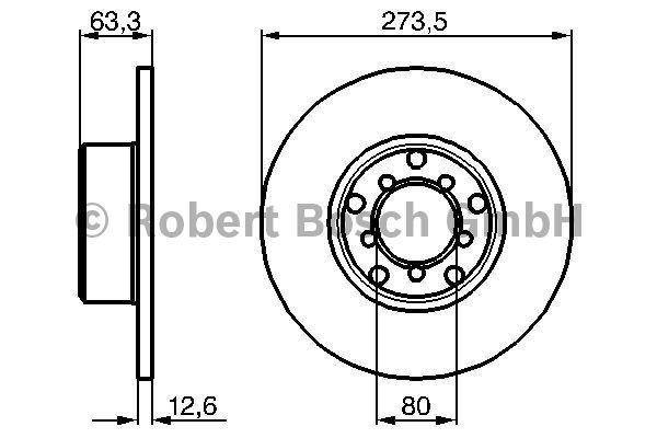 Disque de frein - BOSCH - 0 986 478 057