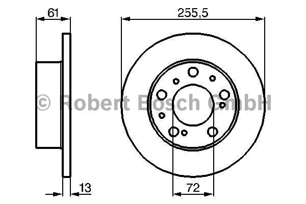 Disque de frein - BOSCH - 0 986 478 067