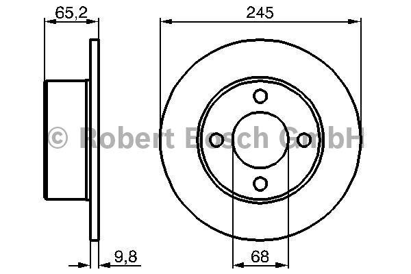 Disque de frein - BOSCH - 0 986 478 073