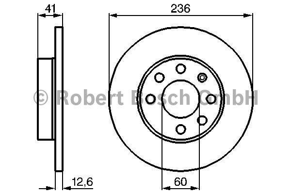 Disque de frein - BOSCH - 0 986 478 081