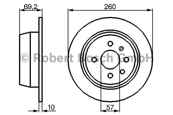 Disque de frein - BOSCH - 0 986 478 086
