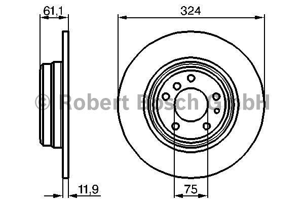 Disque de frein - BOSCH - 0 986 478 095