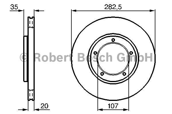 Disque de frein - BOSCH - 0 986 478 098