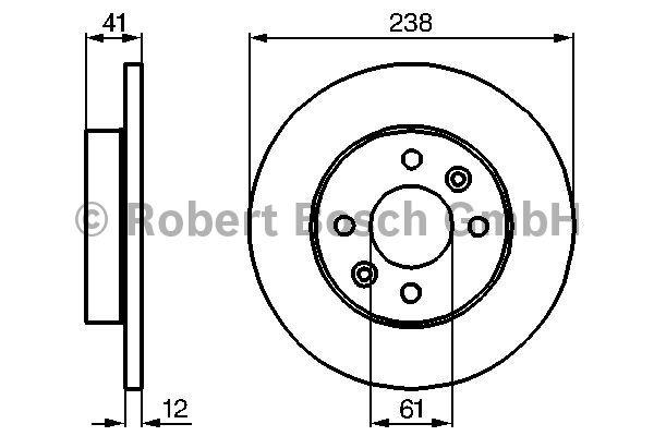 Disque de frein - BOSCH - 0 986 478 105