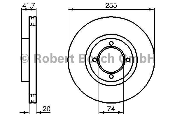 Disque de frein - BOSCH - 0 986 478 106
