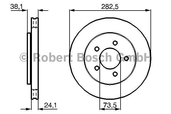 Disque de frein - BOSCH - 0 986 478 109