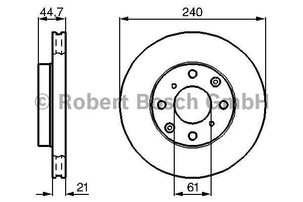Disque de frein - BOSCH - 0 986 478 115