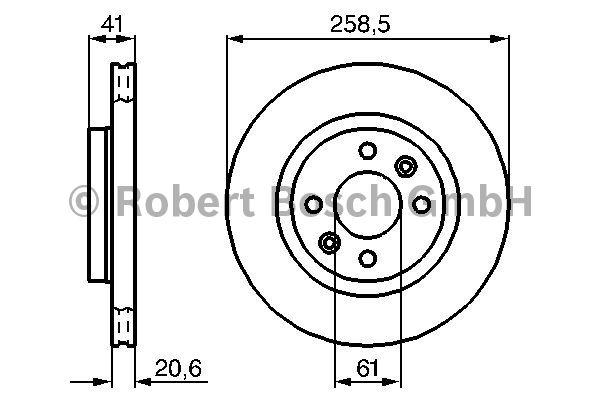 Disque de frein - BOSCH - 0 986 478 124