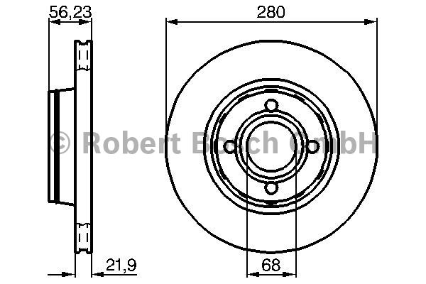 Disque de frein - BOSCH - 0 986 478 128