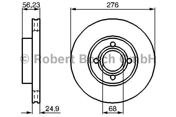 Disque de frein - BOSCH - 0 986 478 137