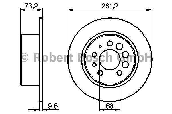Disque de frein - BOSCH - 0 986 478 143