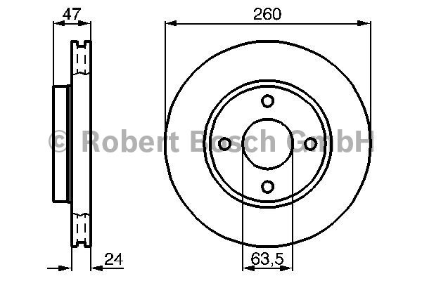 Disque de frein - BOSCH - 0 986 478 170
