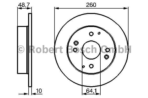 Disque de frein - BOSCH - 0 986 478 172