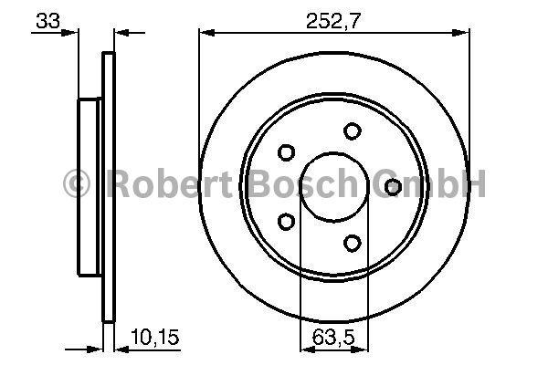 Disque de frein - BOSCH - 0 986 478 196