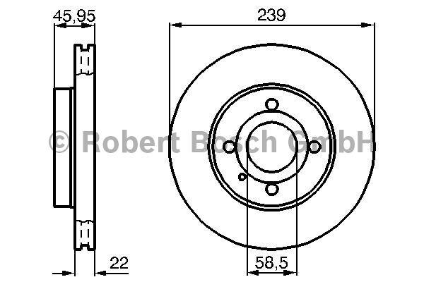 Disque de frein - BOSCH - 0 986 478 228
