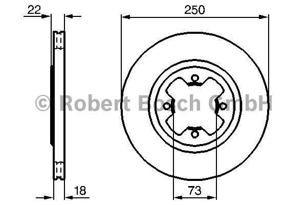 Disque de frein - BOSCH - 0 986 478 260