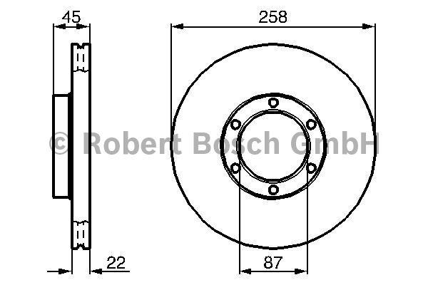 Disque de frein - BOSCH - 0 986 478 271