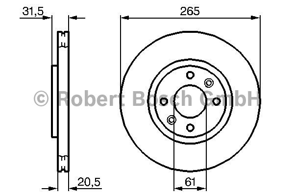 Disque de frein - BOSCH - 0 986 478 279