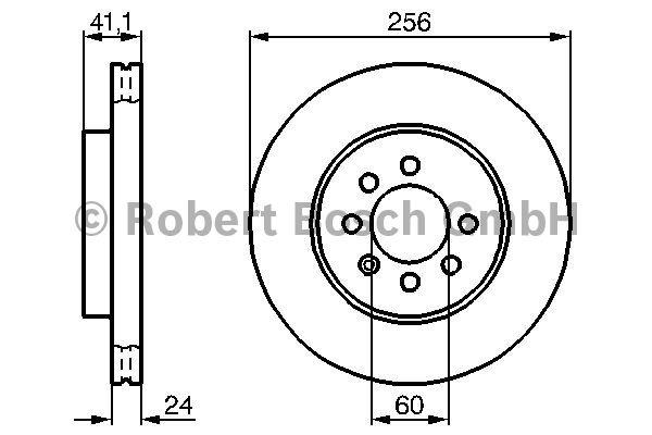 Disque de frein - BOSCH - 0 986 478 286