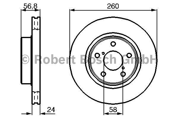 Disque de frein - BOSCH - 0 986 478 293
