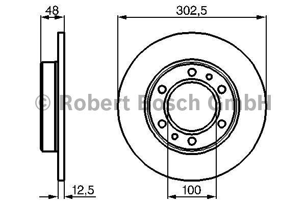 Disque de frein - BOSCH - 0 986 478 304