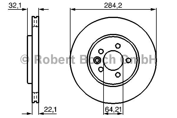 Disque de frein - BOSCH - 0 986 478 314