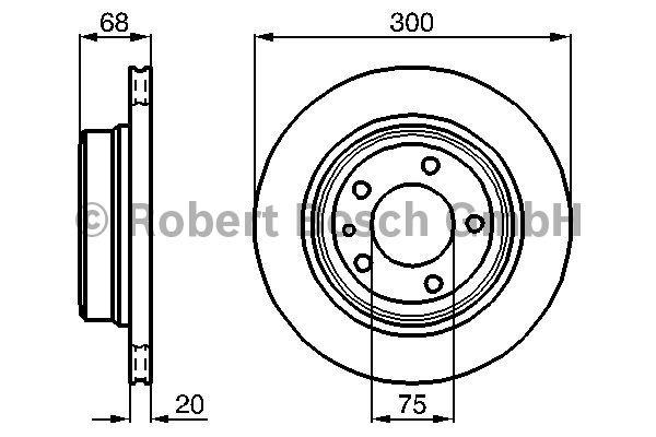 Disque de frein - BOSCH - 0 986 478 320