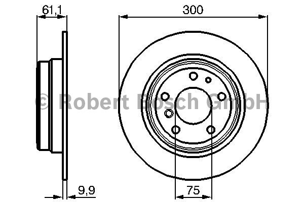 Disque de frein - BOSCH - 0 986 478 321