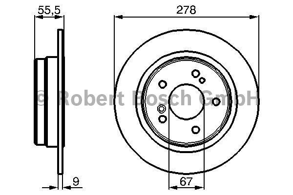 Disque de frein - BOSCH - 0 986 478 325